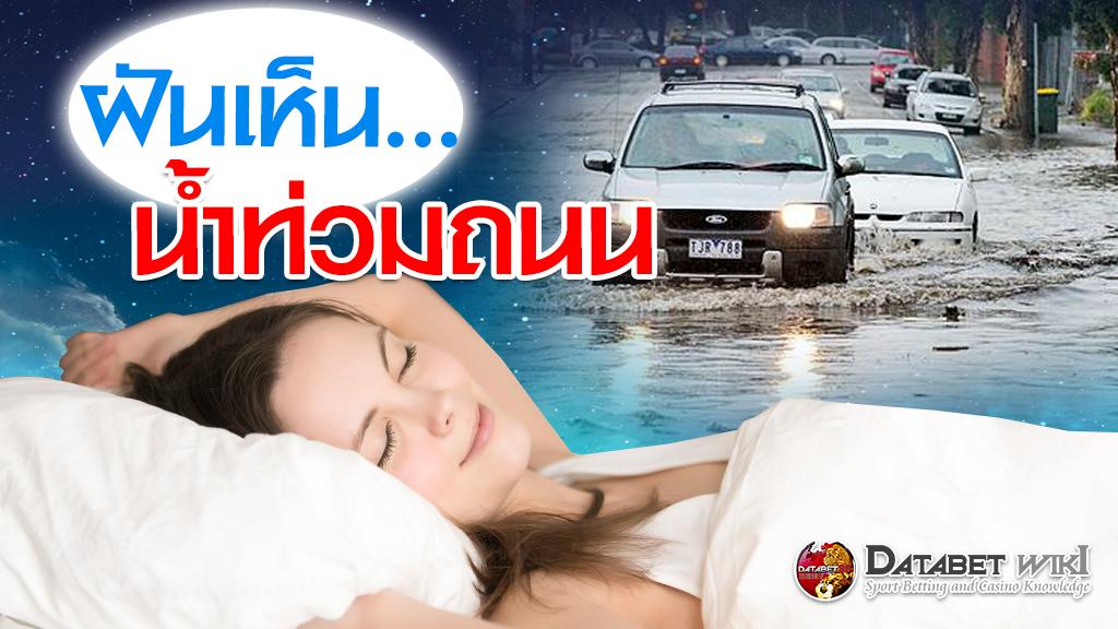 ฝันเห็นน้ำท่วมถนน