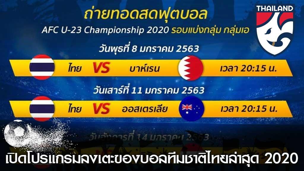 บอลทีมชาติไทยล่าสุด
