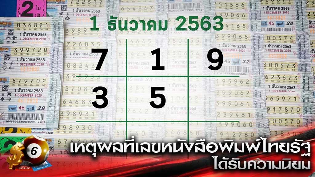เลขหนังสือพิมพ์ไทยรัฐ