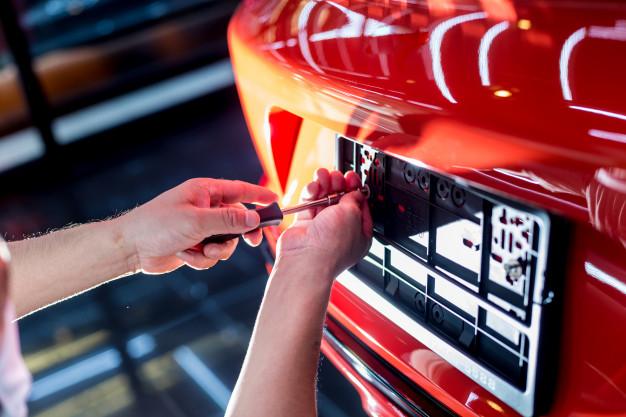 ล็อคเลขทะเบียนรถยนต์