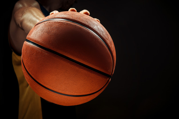 silhouette view basketball player holding basket ball black background 155003 11454