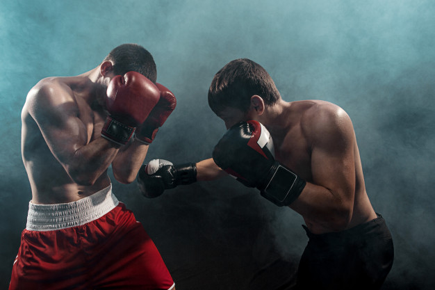 two professional boxer boxing black smoky 155003 14259