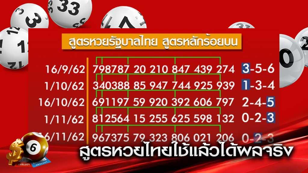 สูตรหวยไทย
