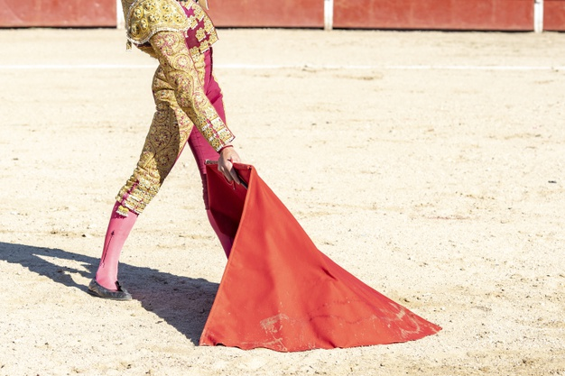 picture bullfighter matador traditional clothes red fabric 181624 33167